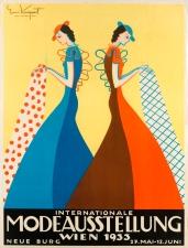 Erni Kniepert Plakat für die Internationale Modeausstellung Wien 1933, Wien 1933 Lithografie