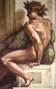 Drunkenness of Noah - Michelangelo Cistine Chapel