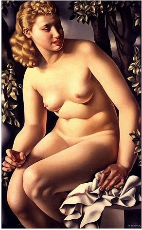 Suzanne Bathing - Tamara de Lempicka