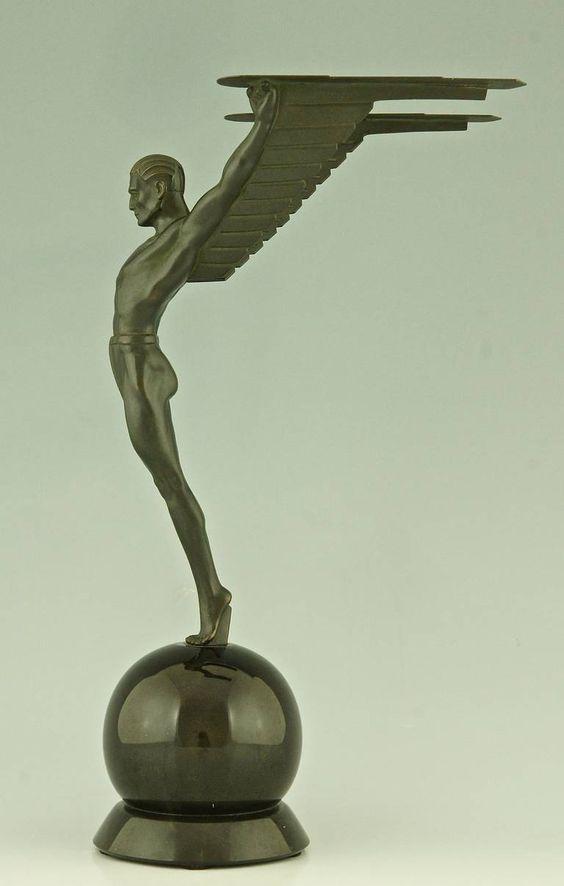 Icarus Art Deco attributed to Schmidthofer