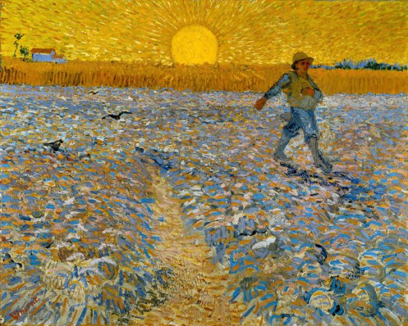 Sower With Setting Sun - Van Gogh 1888