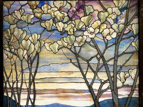 Magnolias and Irises by Tiffany ca. 1908