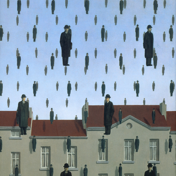 Rene Magritte Golconde -1953