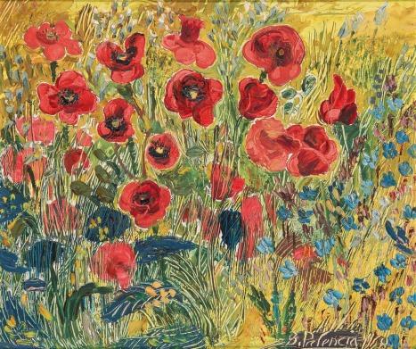 Poppy Field - Benjamin Palencia 1958