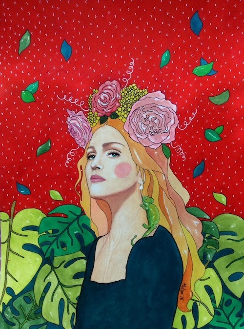 """madonna"" (30x40cm watercolour on paper) Hülya Özdemir"