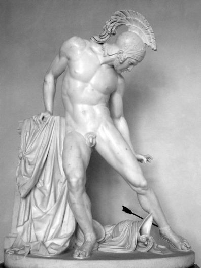 Achilles wounded by the heel