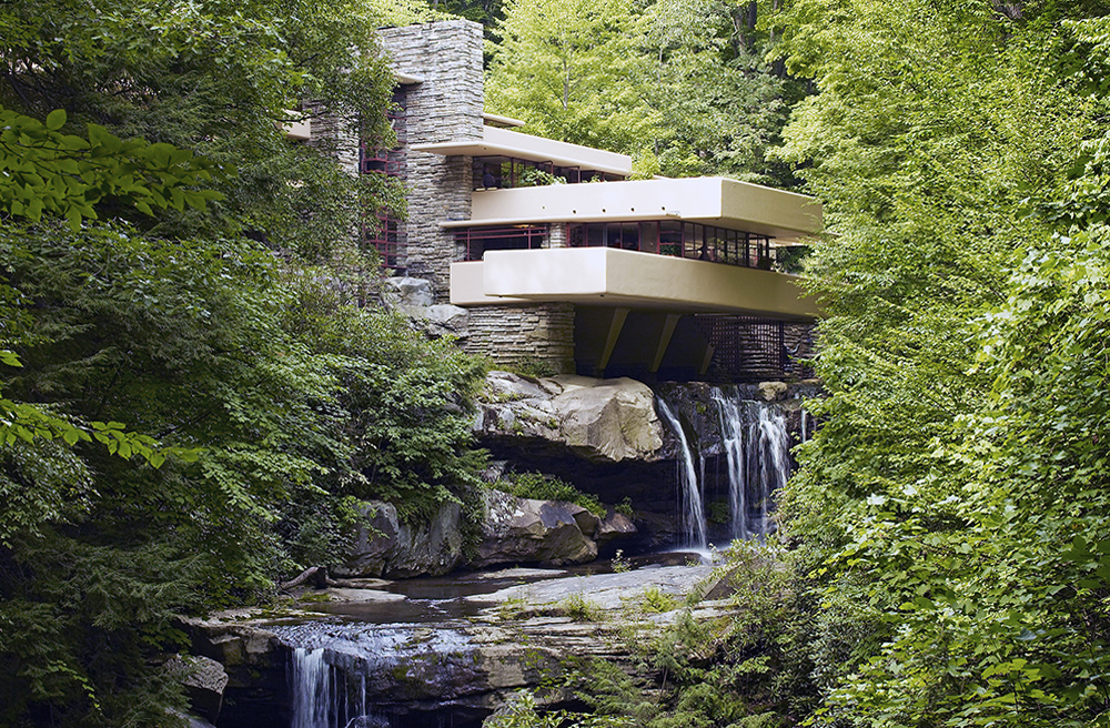 Fallingwater, also known as the Edgar J. Kaufmann Sr. Residence,