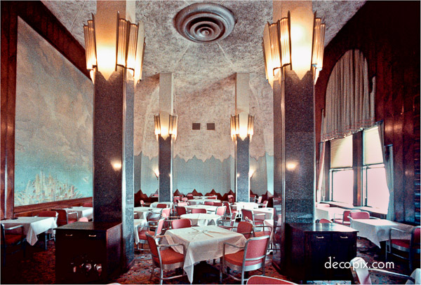 Interior image of The Cloud Club on the upper floors of the Chrysler Building