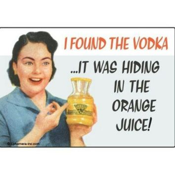 I Found the Vodka!