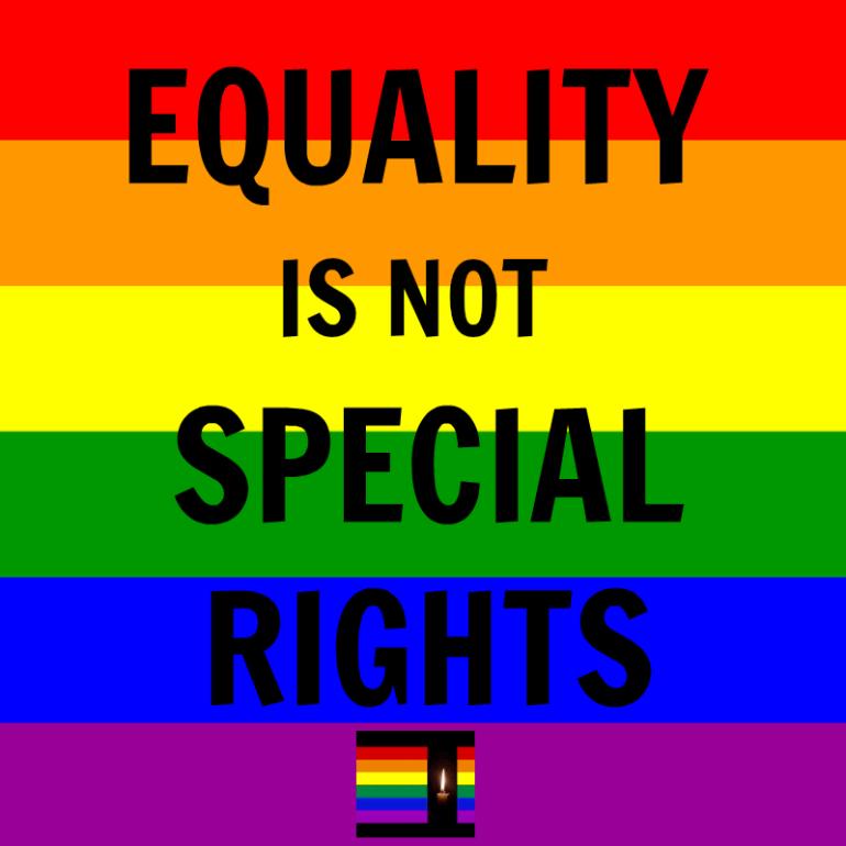 EqualityIsNotSpecialRights