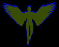 WingedMaleOliveBlueBlogBackground