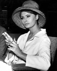 Sophia Loren Smoking