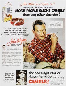 John Wayne Cigarette Advertisement