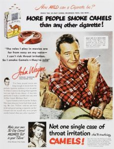 John Wayne Cigarette Advertisement