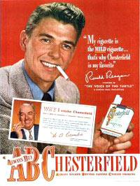 Ronald Reagan Advertisement Cigarettes