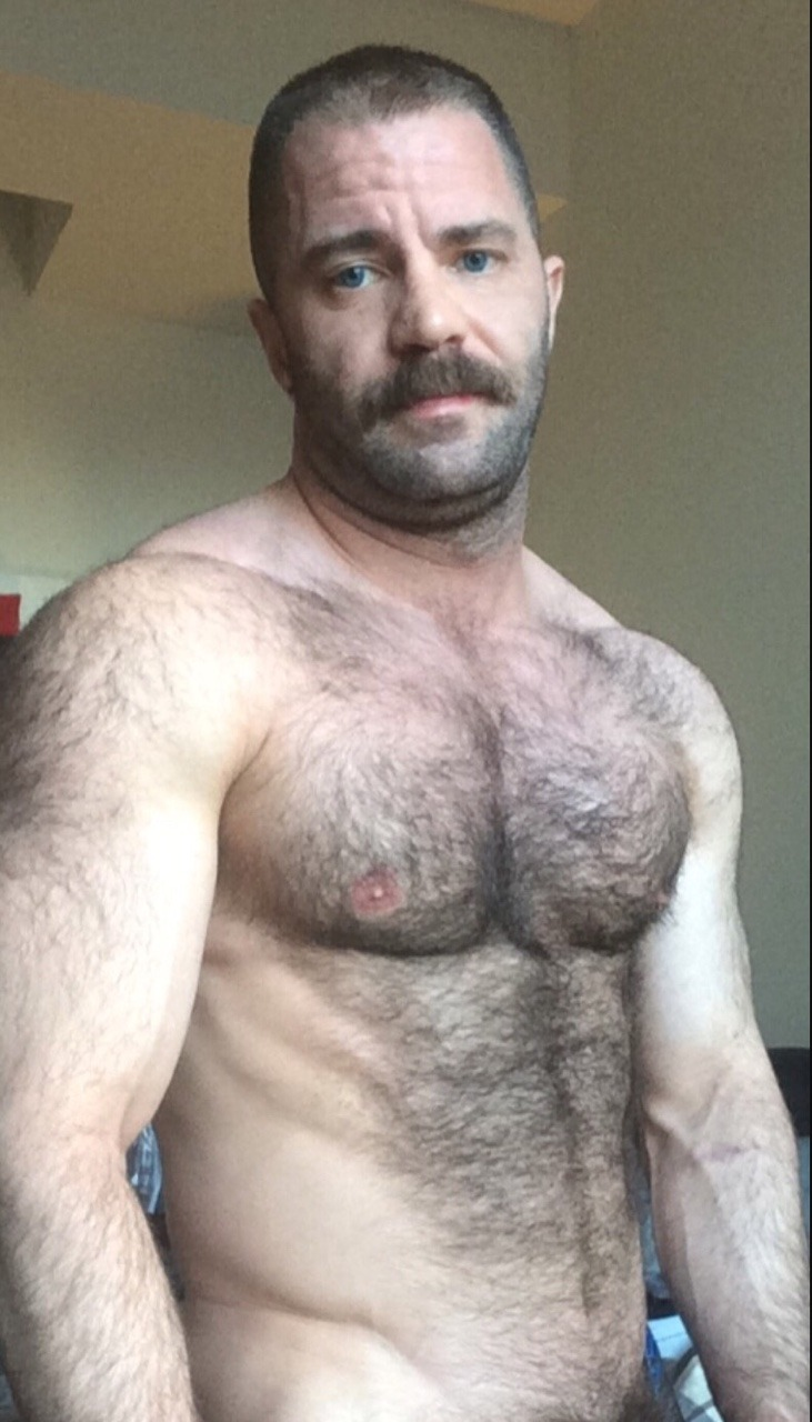 Hairy Muscle Stud via internationalhairymensclub