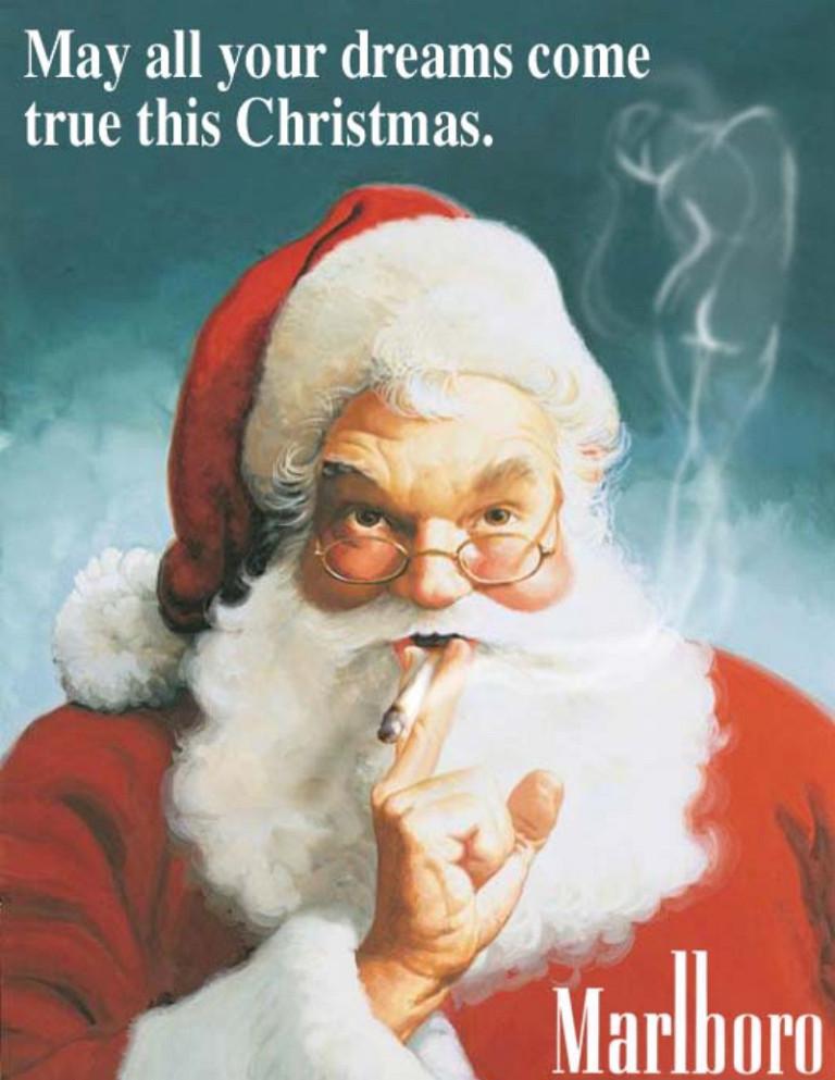 Santa Smoking Marlboro