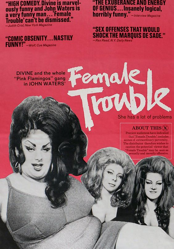 DIVINE in JOHN WATERS' Female Trouble