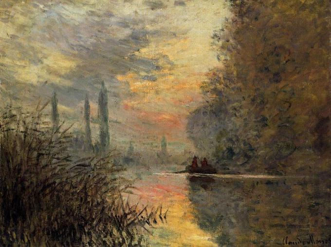 Evening at Argenteuil - Claude Monet  1876