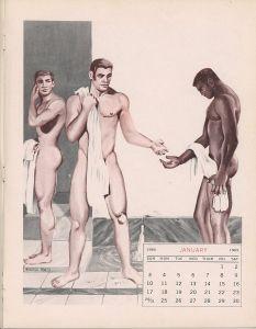 Vintage Male Nudes Calendar 1965