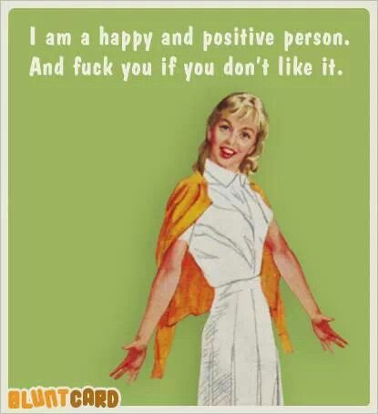 Happy and Positive Person