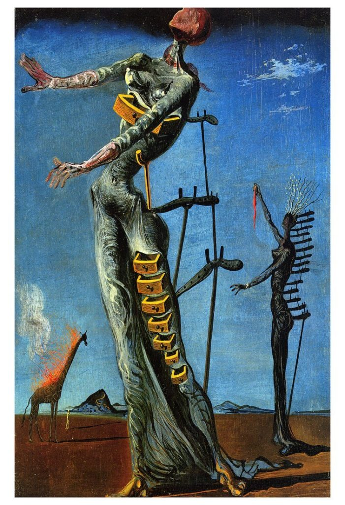 Salvador Dali The Burning Giraffe Salvador Dali, The Burning Giraffe Salvador Dali, Burning Giraffe, 1937, Kunstmuseum Basel Salvador Dalí, Burning Giraffe, 1937, Kunstmuseum Basel