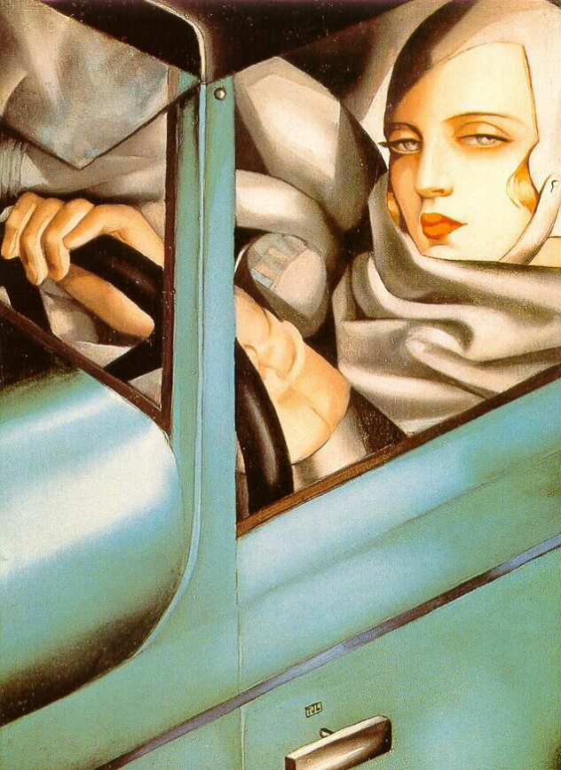 Green Bugatti Lempicka Self Portrait