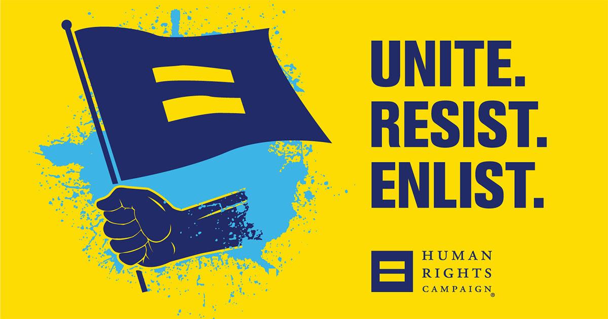 HRC UNITE RESIST ENLIST 2018