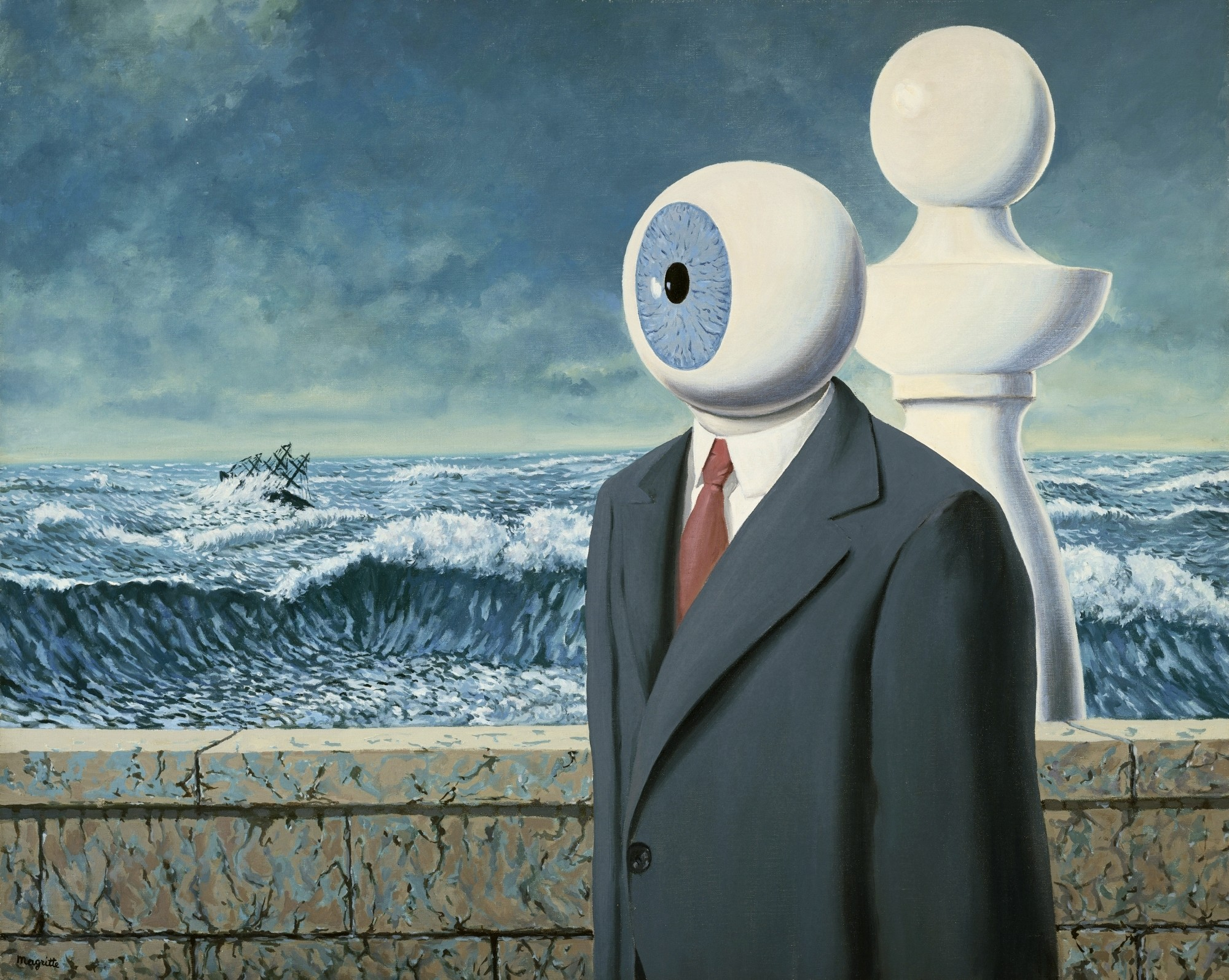 The Difficult Crossing - Rene Magritte