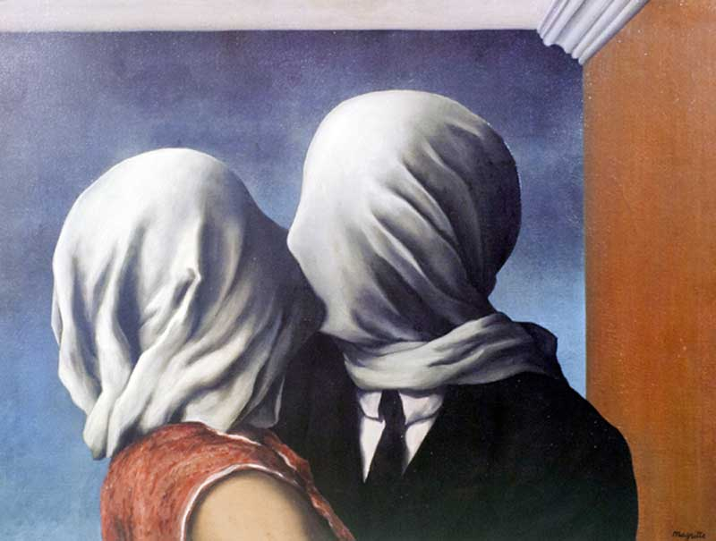 The Lovers - Rene Magritte