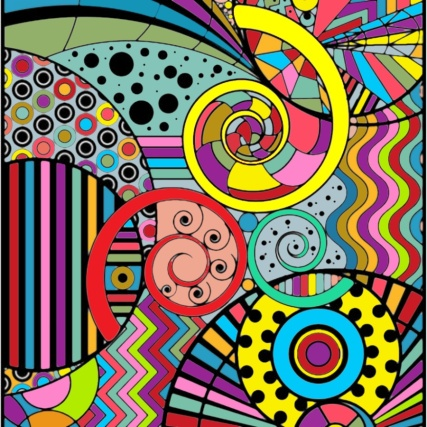 Geometric Adult Coloring